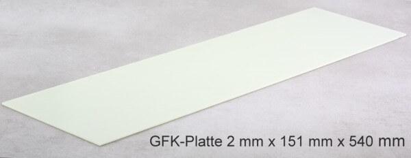 2 mm GFK-Platte · 151 mm x 540 mm · R & G