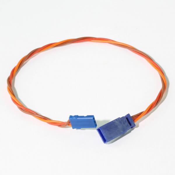 25 cm Verlängerungskabel JR UNI 3 x 0,25 mm² verdrillt Blue-Line Silikon