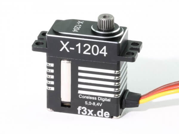 X-1204 · 12 mm HV-Servo bis 72 Ncm · 0,04 s · Coreless Digital