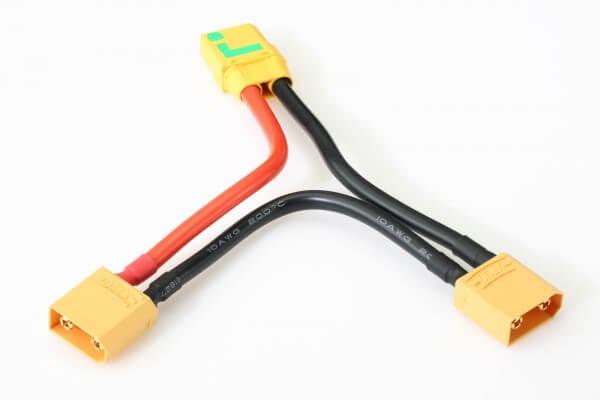 Adapterkabel seriell 2 x XT90-Stecker + 1 x XT90-Antiblitz-Buchse · Pichler