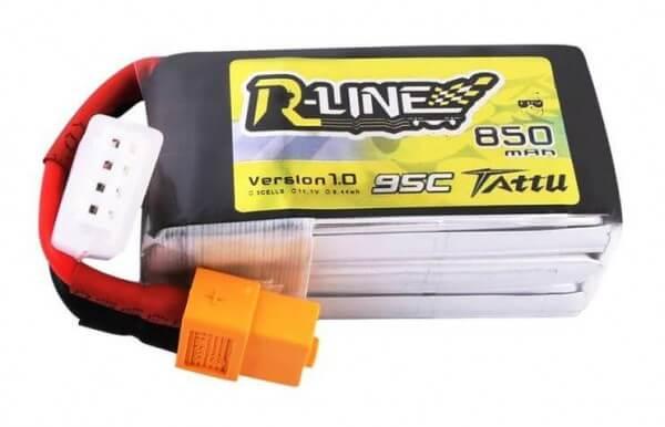 Tattu R-Line 850 mAh 3S Lipo (11,1V) 95 C · XT60