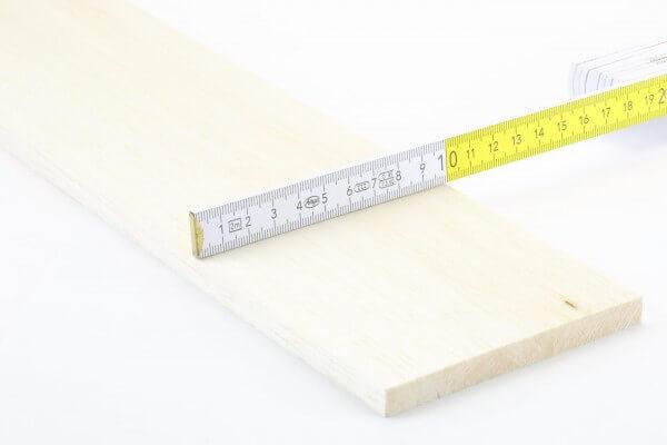 10,0 mm Balsa Brettchen einzeln · 1000 mm x 100 mm · Pichler