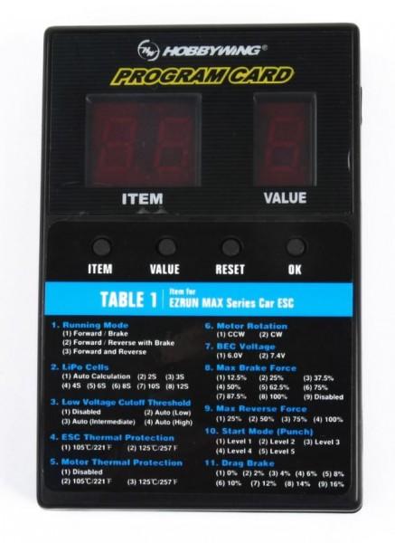 """Hobbywing LED """"Program Card"""" für div. Hobbywing Brushless Regler"""