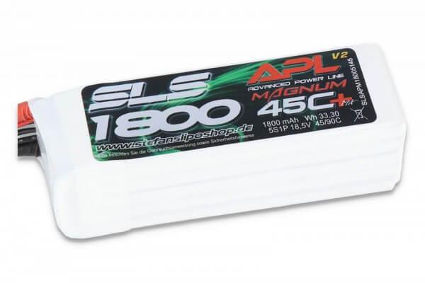 SLS APL MAGNUM V2 1800 mAh 5S Lipo (18,5V) 45 C · XT60