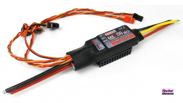 Mezon Pro 80 · 2-12 S · 80 A  · 5-8 V SBEC · Jeti Brushless Regler · Hacker