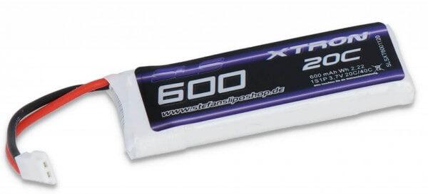 SLS Xtron 600 mAh 1S Lipo (3,7V) 20/40 C · Molex