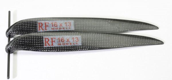 """CFK Klappluftschraube 16"""" x 13"""" · 8 mm Hals · RFM Freudenthaler"""