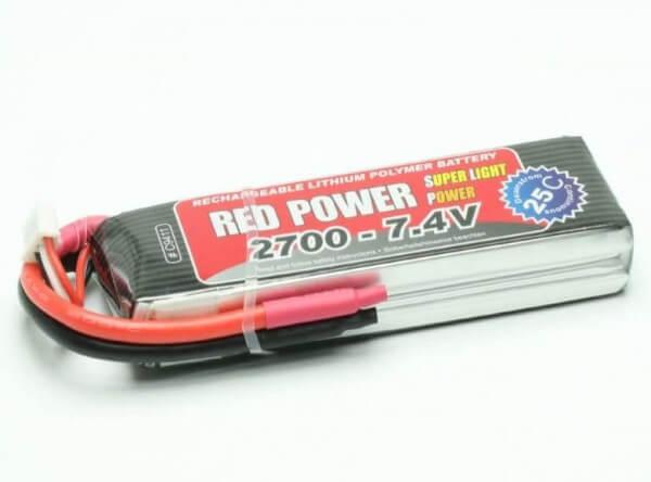 Red Power SLP 2700 mAh 2S Lipo (7,4V) 25 C · Pichler