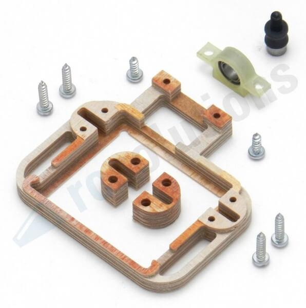 Holz-Servorahmen mit Gegenlager · links · für KST X15, A15 1810, DS 589 · RCsolutions