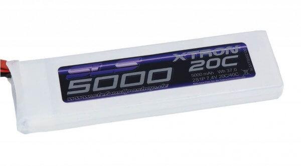 SLS Xtron 5000 mAh 2S Lipo (7,4V) 20/40 C · XT60