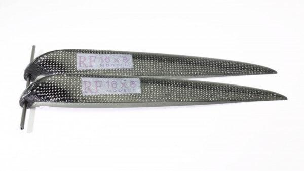 """CFK Klappluftschraube 16"""" x 8"""" · 8 mm Hals · RFM Freudenthaler"""