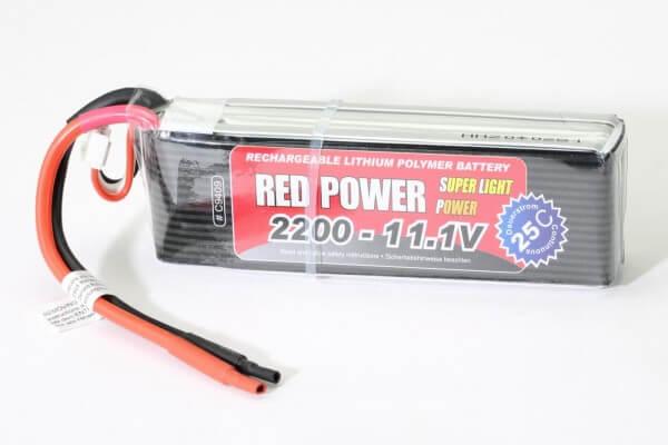 Red Power SLP 2200 mAh 3S Lipo (11,1V) 25 C · Pichler