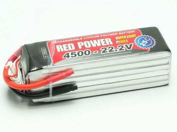 Red Power SLP 4500 mAh 6S Lipo (22,2V) 25 C · Pichler