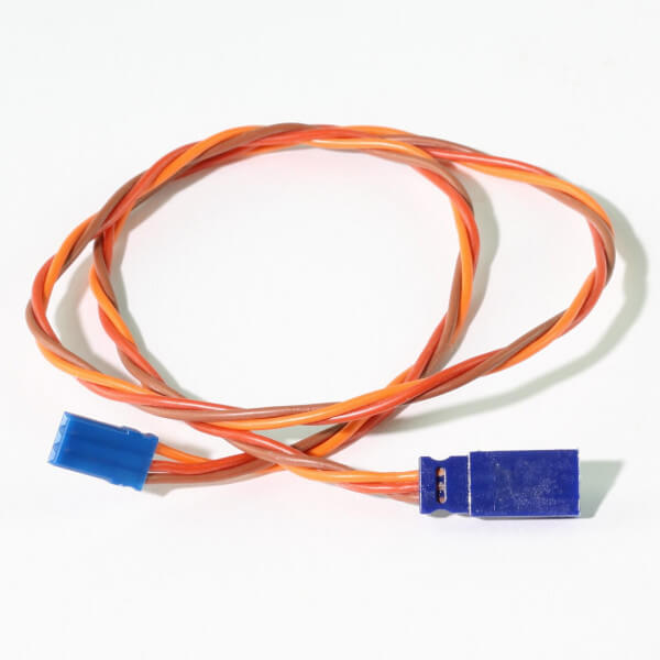 50 cm Verlängerungskabel JR UNI 3 x 0,35 mm² verdrillt Blue-Line Silikon