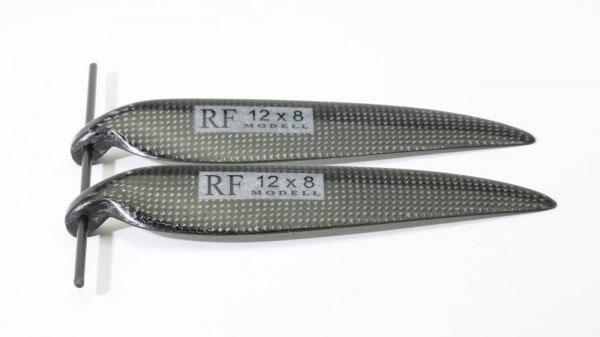 """CFK Klappluftschraube 12"""" x 8"""" · 8 mm Hals · RFM Freudenthaler"""