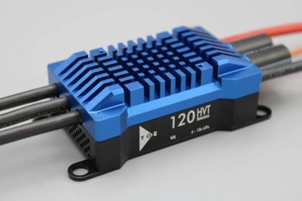 YGE 120 HVT Opto · Telemetrie Brushless Regler von YGE
