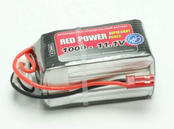 Red Power SLP 1000 mAh 3S Lipo (11,1V) 25 C · Pichler