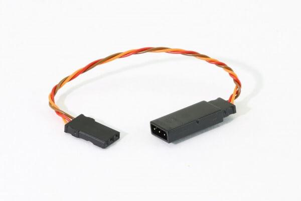 10 cm Verlängerungskabel JR Uni 3 x 0,08 mm² verdrillt  · PVC · Muldental