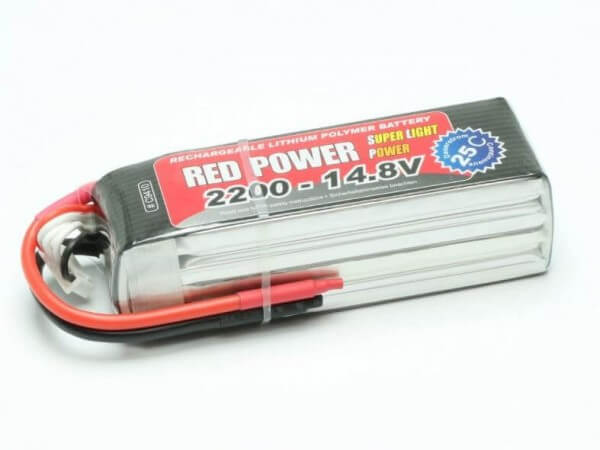 Red Power SLP 2200 mAh 4S Lipo (14,8V) 25 C  · Pichler