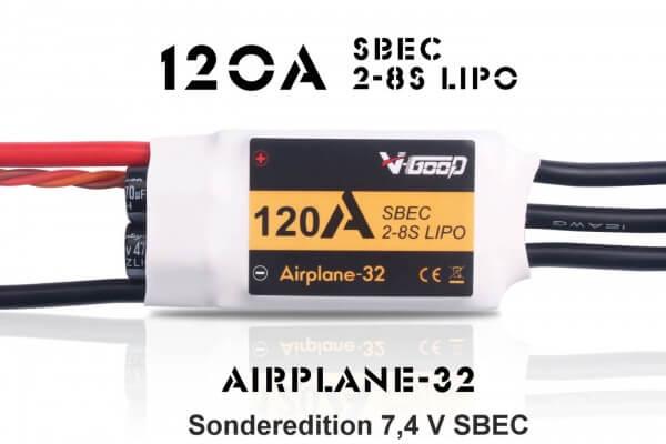 Airplane-32 · 8S · 120 A · 7,4 V SBEC · Brushless Regler · V-GooD