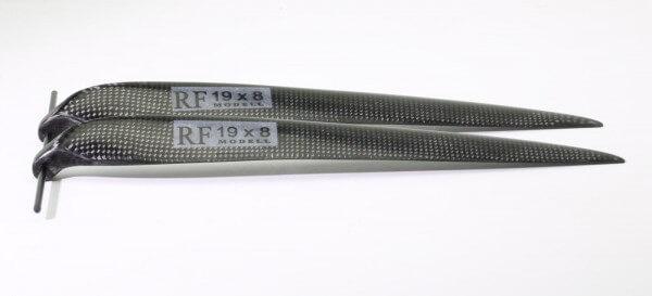 """CFK Klappluftschraube 19"""" x 8"""" · 8 mm Hals · RFM Freudenthaler"""