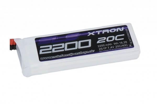 SLS Xtron 2200 mAh 2S Lipo (7,4V) 20/40 C · XT60