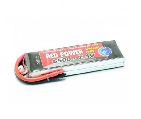 Red Power SLP 5500 mAh 2S Lipo (7,4V) 25 C · Pichler