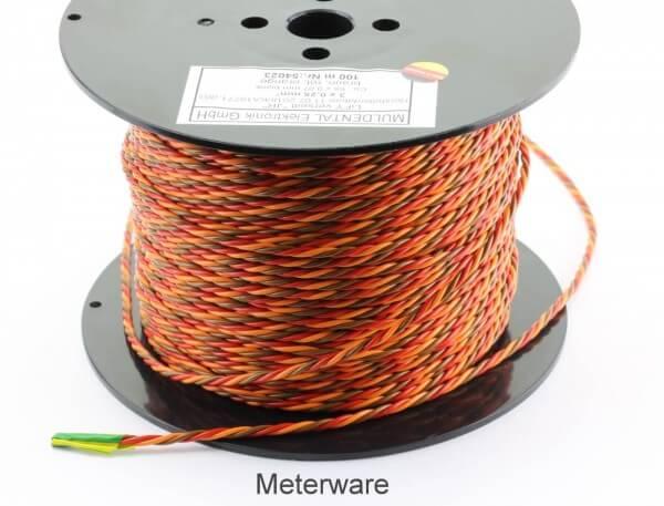 PVC-Servolitze 3 x 0,25 mm² verdrillt hochflexibel · Meterware