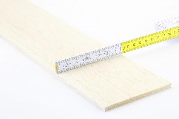 6,0 mm Balsa Brettchen einzeln · 1000 mm x 100 mm