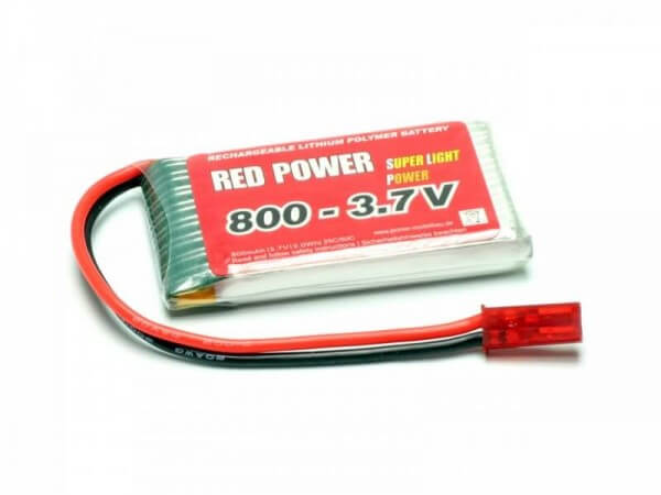 Red Power SLP 800 mAh 1S Lipo (3,7V) 25 C
