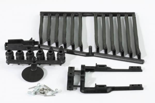 IDS-Servorahmen m. Kunststoff-Schubstangen u. Gegenlager f. KST X10, X10 Mini, DS125, DS135, DS225