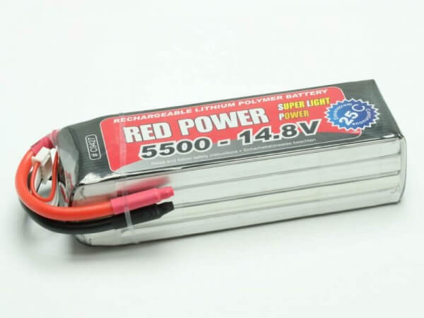 Red Power SLP 5500 mAh 4S Lipo (14,8V) 25 C
