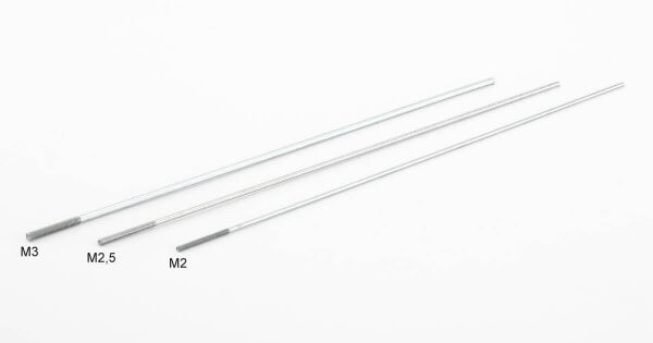 Stahl-Schubstange M 3 · Ø 2,6 mm x 200 mm