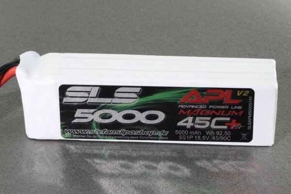 SLS APL MAGNUM V2 5000 mAh 5S Lipo (18,5V) 45 C · XT90