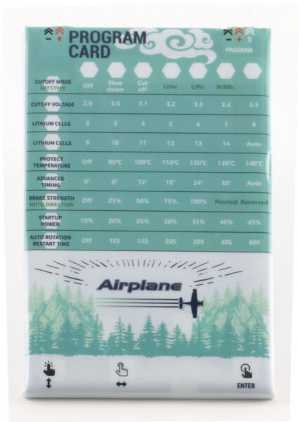 ProgCard A32 · Programmierkarte für Airplane-32 Brushless Regler · Sunrise Model