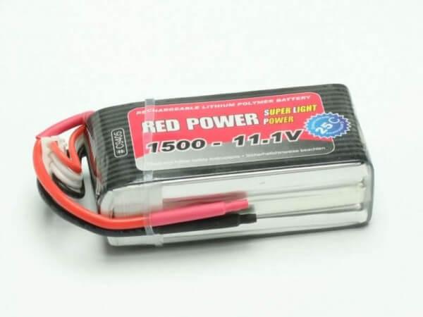Red Power SLP 1500 mAh 3S Lipo (11,1V) 25 C · Pichler