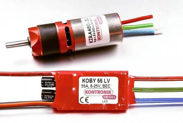 Kontronik Drive 480 Kira 480-31 mit KPG 25 5,2:1 und Koby 55 LV