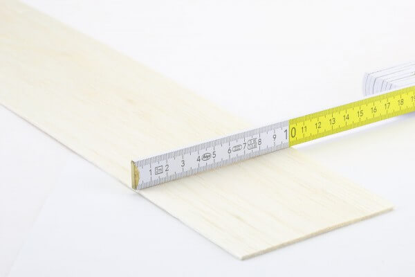 2,0 mm Balsa Brettchen einzeln · 1000 mm x 100 mm