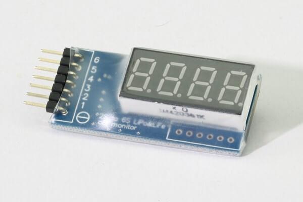 BD6 Voltage Monitor · Spannungsmonitor für Lipos bis 6S · MTTEC