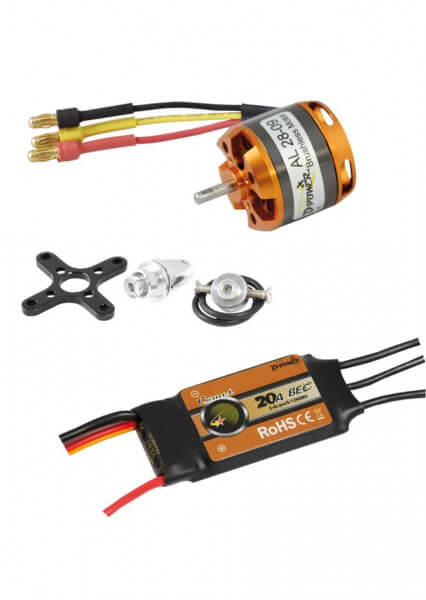 Brushless Set AL28-09 + 20A Comet Regler · D-Power