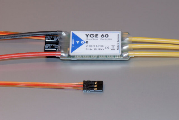 YGE 60 V4 · BEC 5,5 V · Brushless Regler von YGE