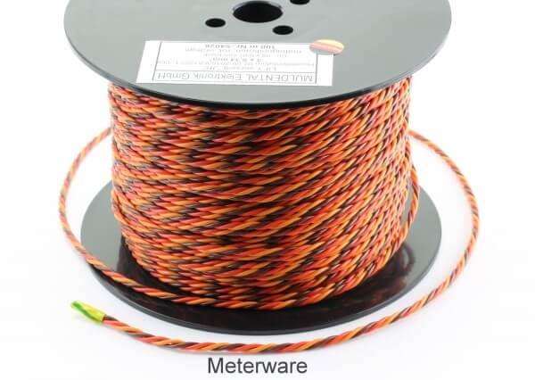 PVC-Servolitze 3 x 0,34 mm² verdrillt hochflexibel · Meterware