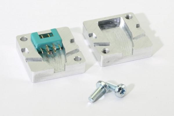 Aluminium Gießform für MPX Stecker und Buchsen 6-Pol · CNC gefräst · Made in Germany