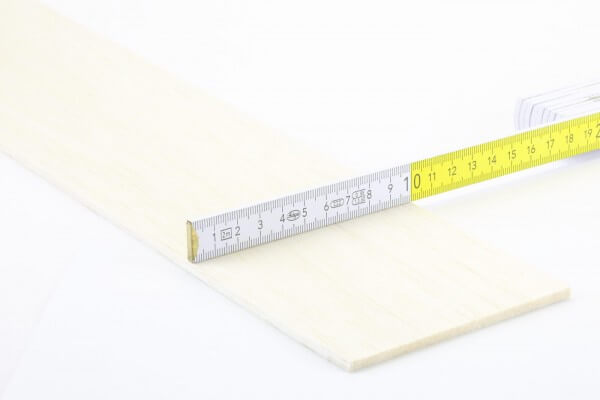 4,0 mm Balsa Brettchen einzeln · 1000 mm x 100 mm · Pichler