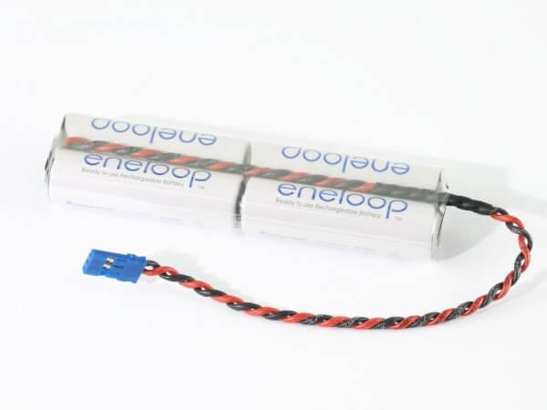 4,8 V Empfänger-Akku inline · Eneloop NiMH · 1900 mAh · 4 Zellen · Graupner JR