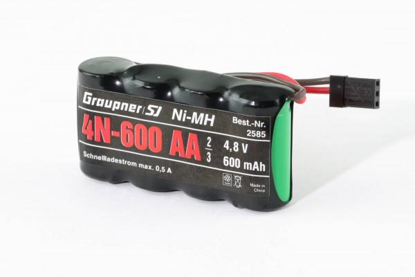 600 mAh NiMH Empfängerakku / Pufferakku 4,8 V · Graupner