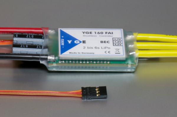 YGE 160 FAI V3 · 6S · BEC · Brushless Regler von YGE