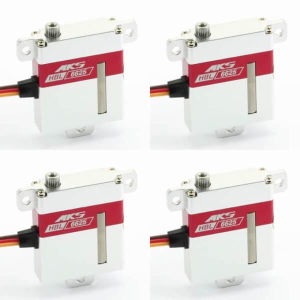 4er Set MKS HBL 6625 HV ·10 mm digitales Brushless-HV-Servo bis 104 Ncm