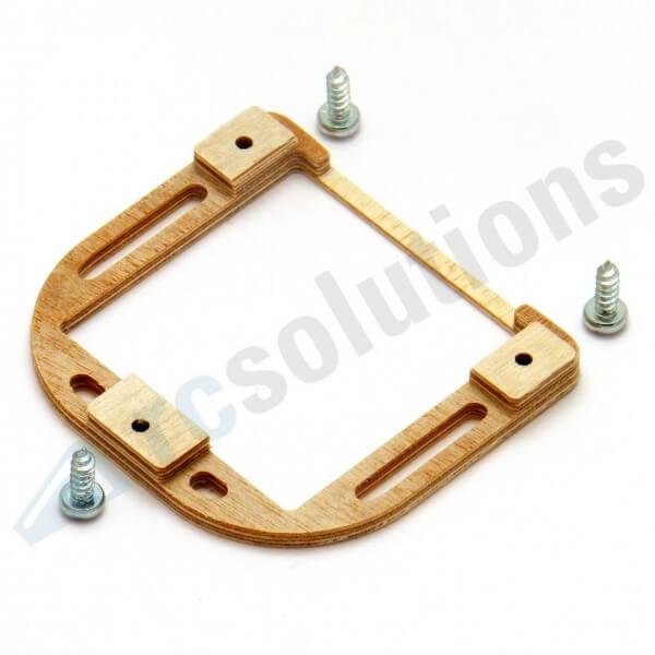 Holz-Servorahmen für KST X10 Mini, DS 135, X-612 · RCsolutions