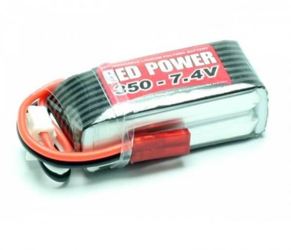 Red Power SLP 350 mAh 2S Lipo (7,4V) 25 C · Pichler